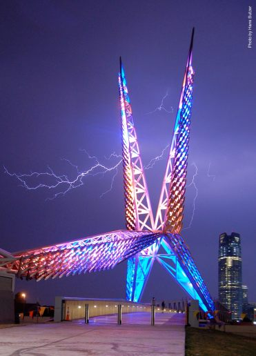 Skydance Bridge, Photo by Hans Butzer